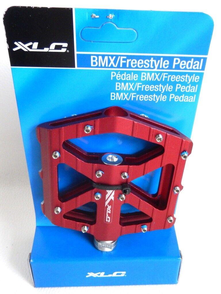 PAIRE DE PÉDALES BMX / FREESTYLE  XLC ROUGES FILETAGE 9/16 NEUVE