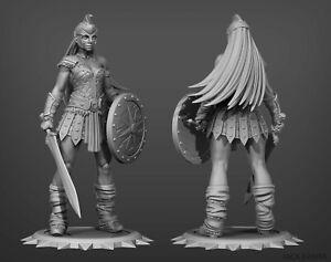 FANTASY || gladiatore donna resina kit modello figura statua/1/10 200mm