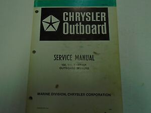 1981 Chrysler Outboard Service Manual 100 115 140 HP Factory OEM Book OB 3439
