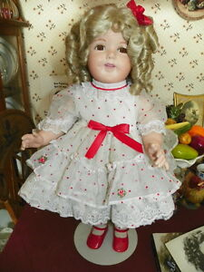 24-034-PORCELAIN-034-SHIRLEY-TEMPLE-034-RARE-BIG-DOLL-VERY-HEAVY