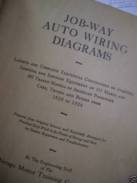 Vintage Auto Wiring Diagrams - 1920 to 1928 Cars Truck on