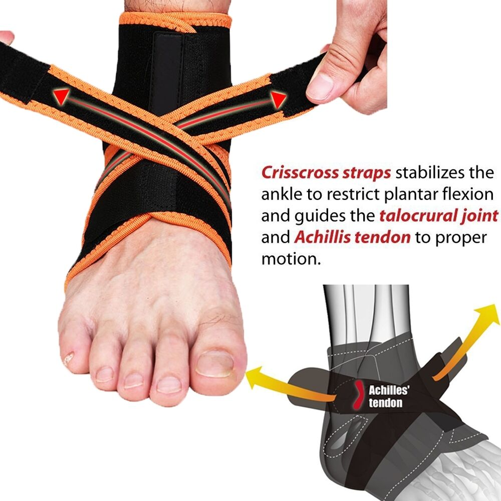 Ankle Brace Ankle Support Socking Compression Sport Injury Protective Guard US D 2