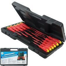Silverline 11pc Insulated Magnetic Soft Grip Screwdriver Phillips Flat Set