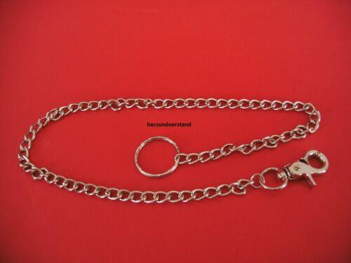 Schlüsselkette Hosenkette Geldbeutelkette Biker  Ring Karabiner ca 57 cm