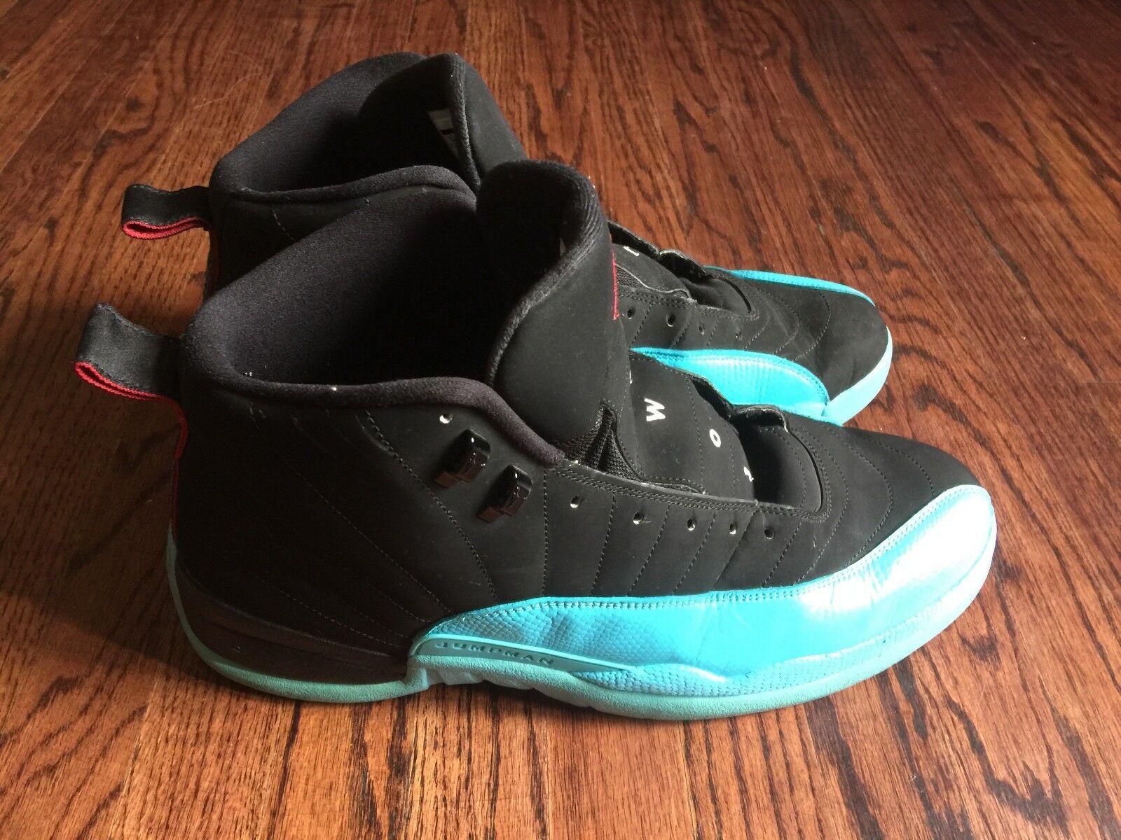 jordan 12 retro gamma blue size 14 used