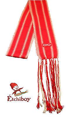 Metis Sash Etchiboy Ceinture Fléchée Red Métis Flag Drapeau Métis Alpaca Kids