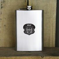 Distressed Air Force Pararescue Badge Veteran Stainless Steel Flask