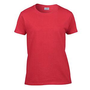 43dfb98549268 Women s Blank T-Shirt Ladies Plain Tee Ultra Cotton Tee Red