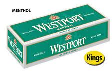 5 Cartons Westport Menthol King Cigarette Filter Tubes Green (1 Sleeve)