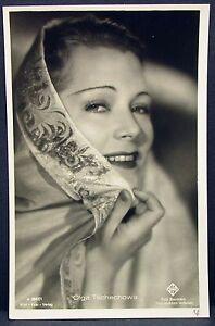 Olga-Tschechowa-Film-Foto-Autogramm-AK-j-8149