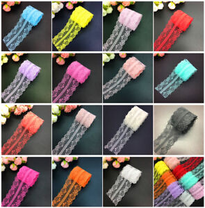 Details about 10yds Vintage Handicrafts Embroidered Net Lace Trim Ribbon  DIY Wedding Crafts UK