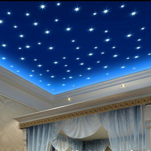 100Pc//Bag  Star Glow In the Night Luminous Ceiling Wall Sticker Room Decor 3cm