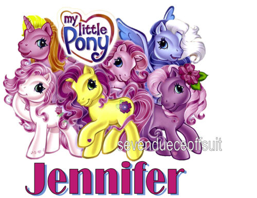PERSONALIZED CUSTOM MY LITTLE PONY PINK T SHIRT GIFT