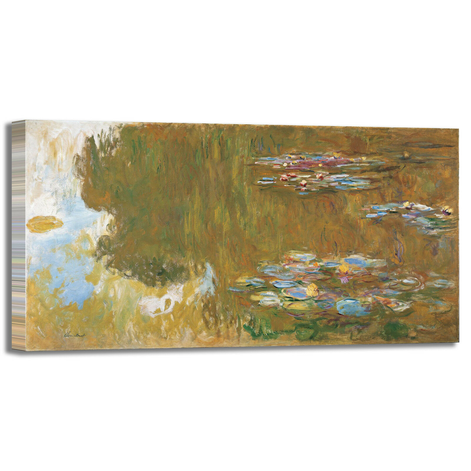 Monet ninfee 83 design quadro stampa tela dipinto telaio arroto casa