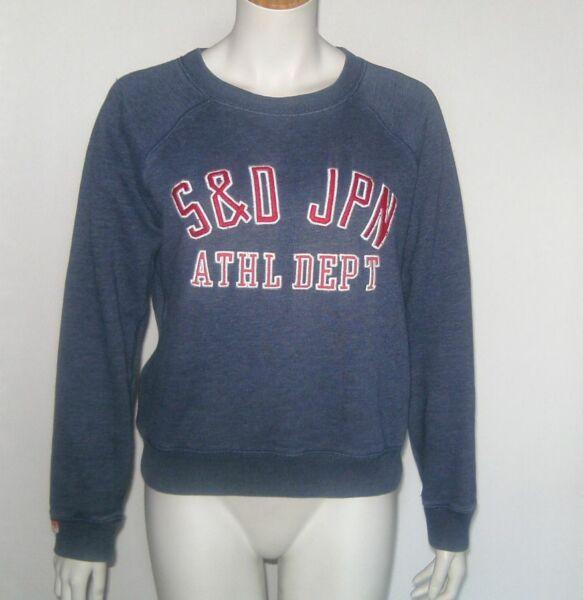 """"""" Superdry """" Sweatshirt Gr. M L Pullover Blau Damen Pulli Original 12777r êTre Hautement Loué Et AppréCié Par Le Public Consommateur"""
