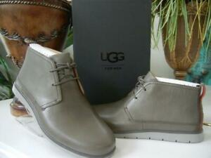 e83a5c8bcce Details about NIB MEN UGG AUSTRALIA FREAMON WATERPROOF BRINDLE GREY LEATHER  CHUKKA ANKLE BOOTS