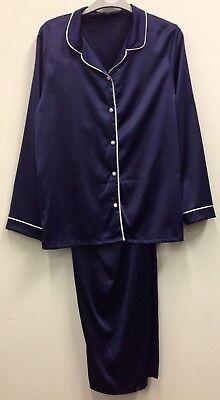 (02) 2 Colours Ladies Quality Satin Pyjama Set Uk Sizes 10,12,14 Wohltuend FüR Das Sperma