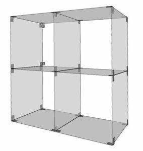 Glassteckvitrine-Vitrine-H-63-x-B-63-cm-Glasregal-Steckvitrine-Vitrinen-Regal