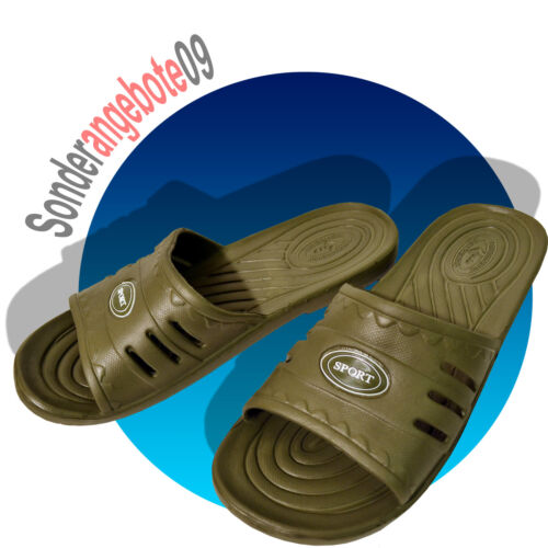 EVA Badelatschen SPORT Badeschuhe 40 41 42 43 44 45 Strand Schuhe khaki olive
