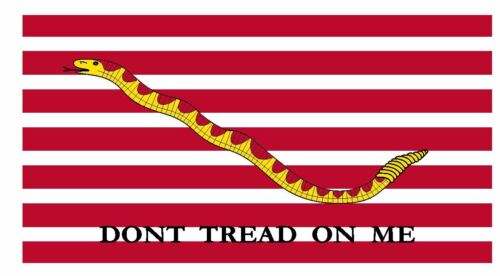 Dont Tread On Me First Navy Jack Flag Sticker Decal F636