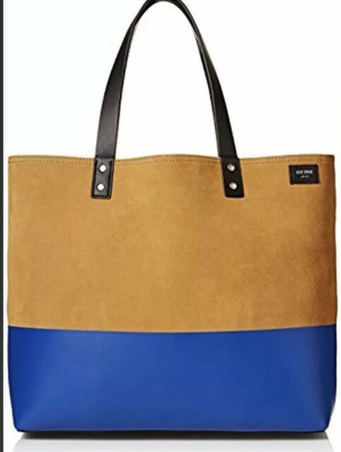 $228 Jack Spade Dipped Industrial Canvas Coal Bag Tote Red//Dark Navy  NWT