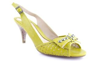 Details about Miss Sixty Women's Pumps Sling Back Slingback High Heels with Bow Yellow