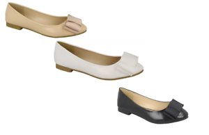 R7B Spot On F8R718 Ladies Pink or Beige Dolly Shoes With White Spots