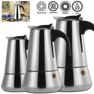 Espressokocher aus Edelstahl Kaffeebereiter Kaffeekocher Maker 6/9/12 Tassen WOW