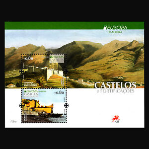 Madeira-2017-EUROPA-Stamps-034-Palaces-and-Castles-034-Architecture-s-s-MNH