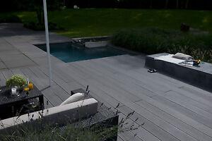 bpc komplettset terrassendielen anthrazit bambus holz komplettbausatz wpc ebay. Black Bedroom Furniture Sets. Home Design Ideas
