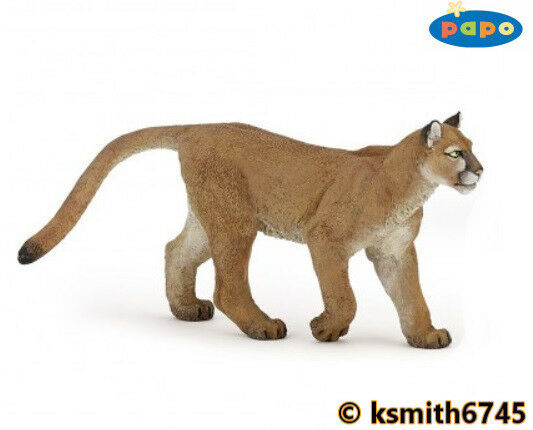 Papo PUMA solid plastic toy wild zoo animal cat predator * NEW *💥