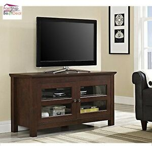 Tv stand entertainment center wood furniture media console for Media and tv storage furniture