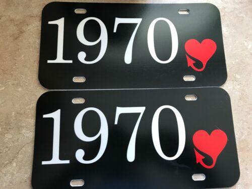 1970 PLYMOUTH FURY VIP GTX ROAD RUNNER BARRACUDA FURY III DEALER LICENSE PLATES