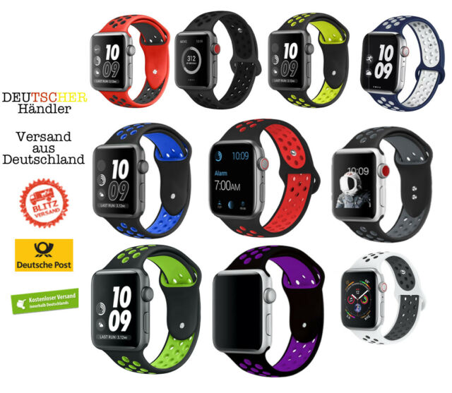 Apple Watch 38mm 40mm Armband Nike | Sport Band | für alle Series 0 1 2 3 4 5