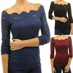 New-Fashion-Women-Lace-Tops-Long-Sleeve-Floral-Shirt-Casual-Blouse-Loose-T-shirt