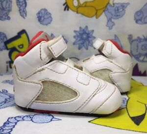 timeless design ea81d dd127 Details about Nike Air Jordan Retro V (5) FIRE RED Boys BABY Crib Shoes  Size 1C Infant White