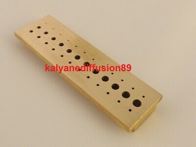 8724A Watchmakers Tool Riveting Stake in Steel with 36 Hole Diameter 0.5mm-2.5mm