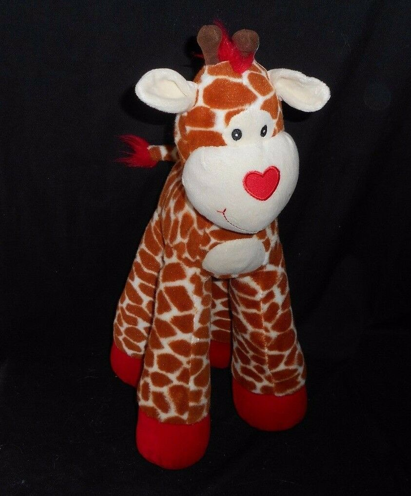 17  SOUND & LIGHT ANIMATRONICS BABY GIRAFFE STUFFED ANIMAL PLUSH TOY HEART APRIL