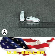 1/6 women shoes white Converse style Chuck Taylor Low Top for phicen hot toys US