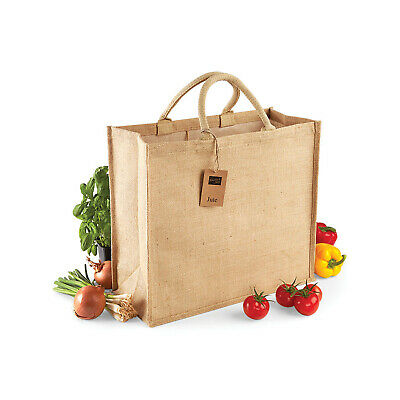 Cordiale Westford Mill Eco Friendly Iuta Jumbo Shopper (w408) - Donna Tote Handbag Naturale-mostra Il Titolo Originale