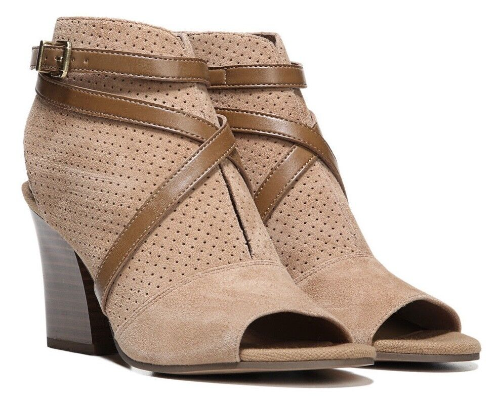 Franco Sarto Dark Camel Fantana Suede Sandal 9M - Worn Once