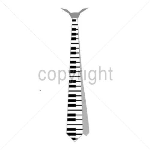 Piano Keyboard Music Necktie HEAT PRESS TRANSFER  for T Shirt Sweatshirt 602b