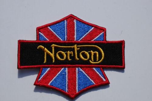 Iron//Sew On Patch Biker Union Flag NORTON Ton Up Boys No534