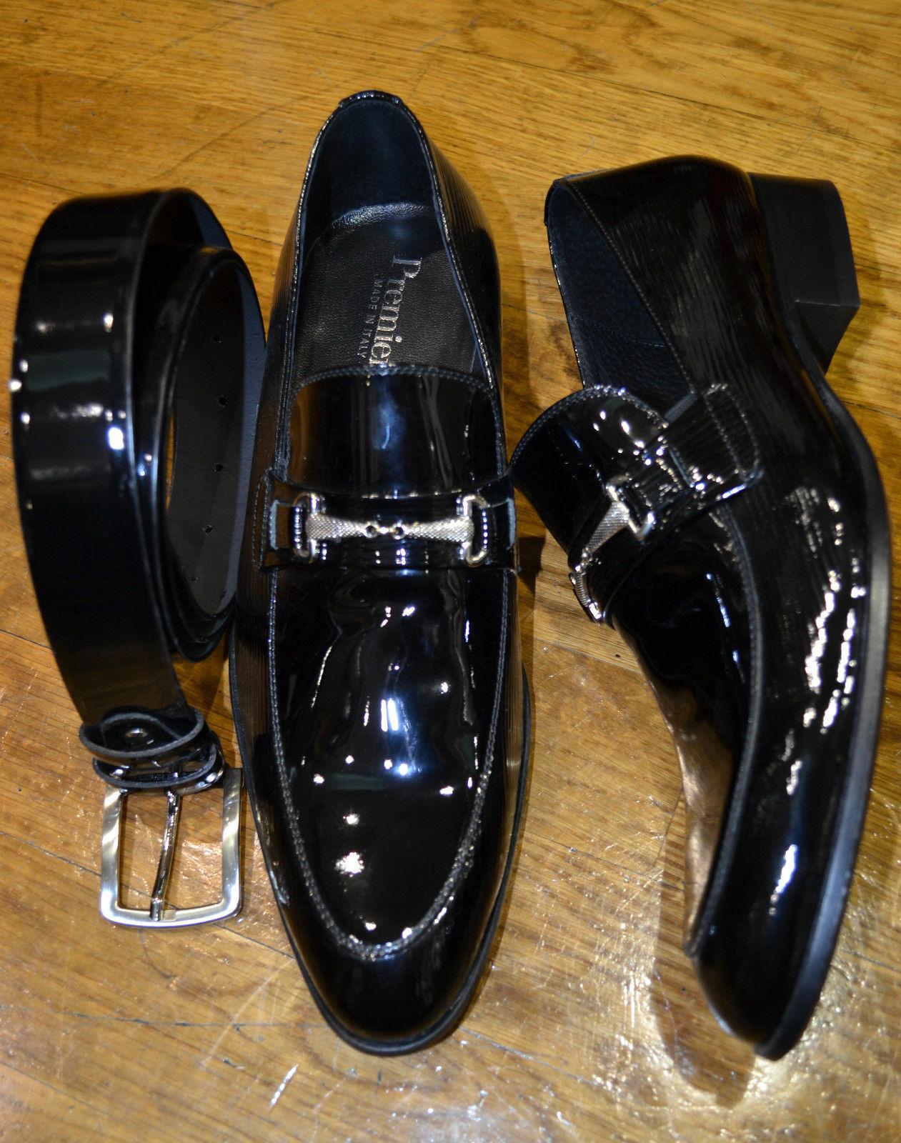 zapatos hombres Mod PAGLIA VERNICE  Tg 44  OCCASIONE & CERIMONIA   MADE in ITALY