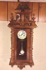 Antique Gustav Becker Vienna Wall Regulator Clock Great Eagle Topper Runs Strike