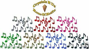 MUSIC-NOTES-HOLO-IRON-ON-BLING-NOVELTY-DIY-PARTY-TSHIRT-TRANSFER-APPLIQUE-patch
