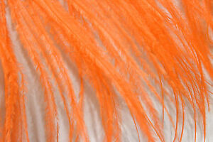 F121-PER-FEET-Orange-Ostrich-feather-fringe-Trim-Brooch-Fascinator-Material