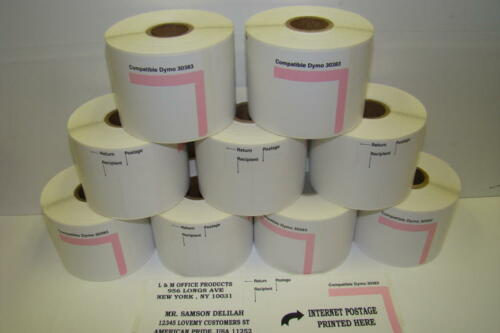 700//Roll - 12 Rolls Dymo 30915 Compatible Internet Postage Stamps Labels