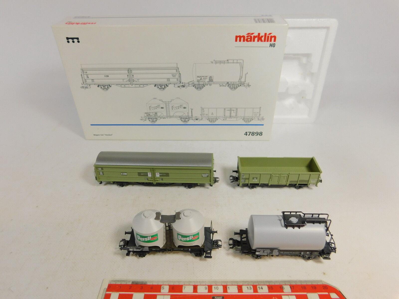 AU161  marklin Mhi H0Ac 47898 Set Vagoni Henkel Nem Kk , Nuovo  Conf. Orig.