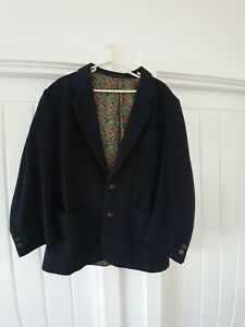 Hugo-Boss-20-Mens-Navy-Wool-amp-Cashmere-Jacket-Blazer-Size-44